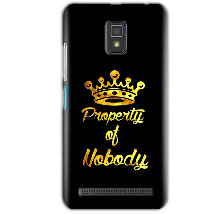 Lenovo A6600 Mobile Covers Cases Property of nobody with Crown - Lowest Price - Paybydaddy.com