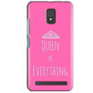 Lenovo A6600 Mobile Covers Cases Queen Of Everything Pink White - Lowest Price - Paybydaddy.com