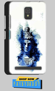 Lenovo A6600 Mobile Covers Cases Shiva Blue White - Lowest Price - Paybydaddy.com
