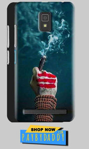 Lenovo A6600 Mobile Covers Cases Shiva Hand With Clilam - Lowest Price - Paybydaddy.com