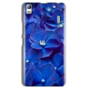Lenovo A7000 Mobile Covers Cases Blue flower - Lowest Price - Paybydaddy.com