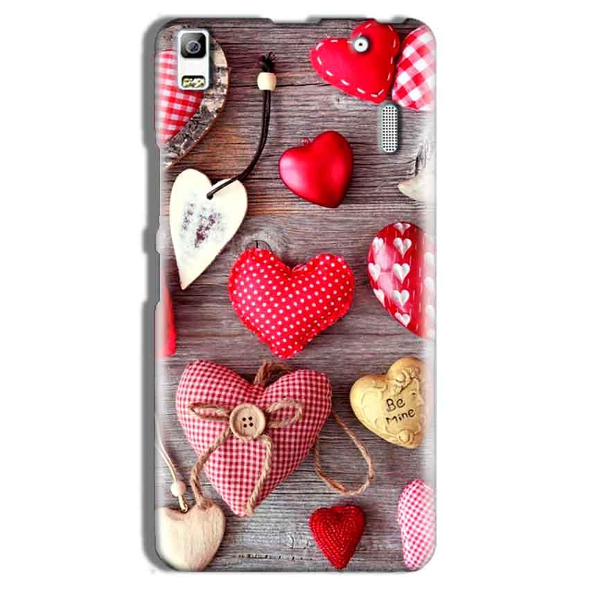 Lenovo A7000 Mobile Covers Cases Hearts- Lowest Price - Paybydaddy.com