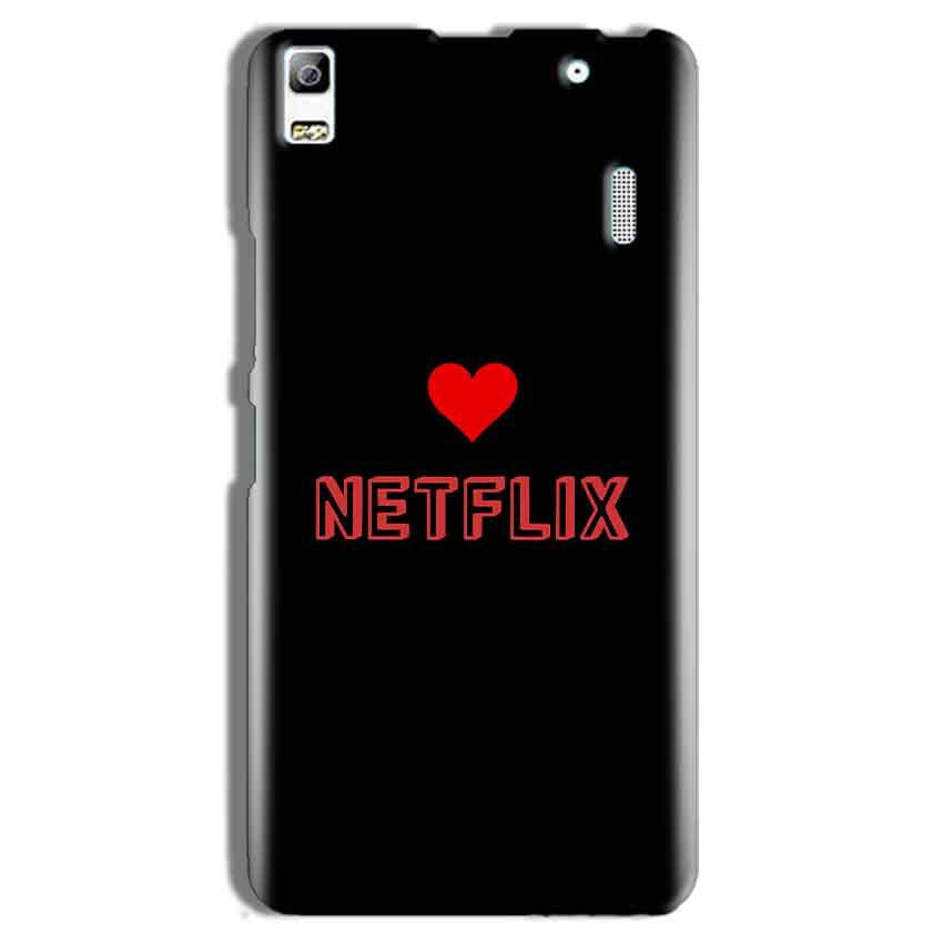 Lenovo A7000 Mobile Covers Cases NETFLIX WITH HEART - Lowest Price - Paybydaddy.com