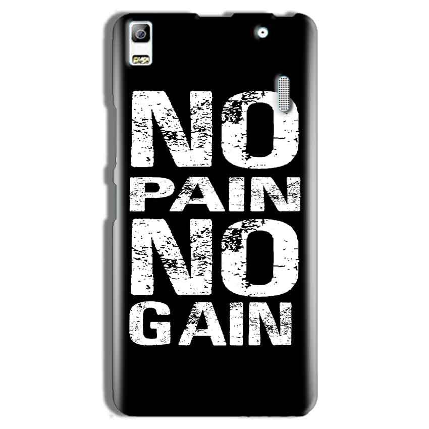 Lenovo A7000 Mobile Covers Cases No Pain No Gain Black And White - Lowest Price - Paybydaddy.com