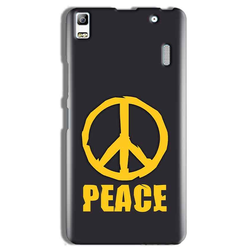 Lenovo A7000 Mobile Covers Cases Peace Blue Yellow - Lowest Price - Paybydaddy.com