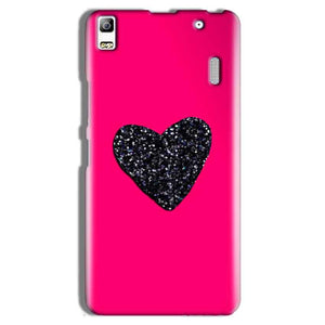 Lenovo A7000 Mobile Covers Cases Pink Glitter Heart - Lowest Price - Paybydaddy.com