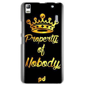 Lenovo A7000 Mobile Covers Cases Property of nobody with Crown - Lowest Price - Paybydaddy.com