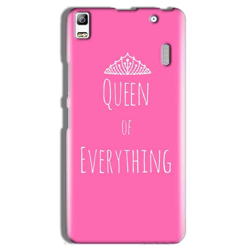 Lenovo A7000 Mobile Covers Cases Queen Of Everything Pink White - Lowest Price - Paybydaddy.com