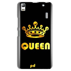 Lenovo A7000 Mobile Covers Cases Queen With Crown in gold - Lowest Price - Paybydaddy.com
