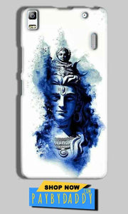 Lenovo A7000 Mobile Covers Cases Shiva Blue White - Lowest Price - Paybydaddy.com