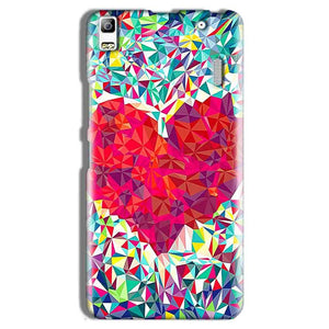 Lenovo A7000 Mobile Covers Cases heart Prisma design - Lowest Price - Paybydaddy.com