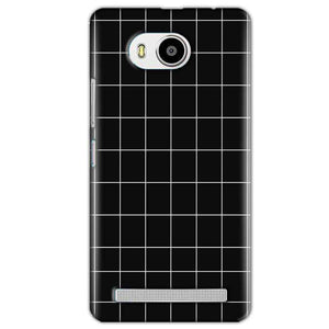 Lenovo A7700 Mobile Covers Cases Black with White Checks - Lowest Price - Paybydaddy.com