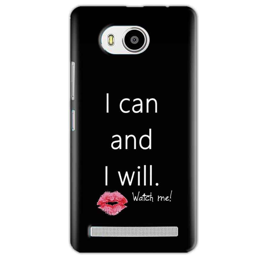 Lenovo A7700 Mobile Covers Cases i can and i will Lips - Lowest Price - Paybydaddy.com