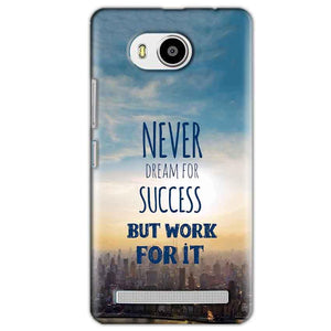 Lenovo A7700 Mobile Covers Cases Never Dreams For Success But Work For It Quote - Lowest Price - Paybydaddy.com