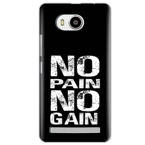 Lenovo A7700 Mobile Covers Cases No Pain No Gain Black And White - Lowest Price - Paybydaddy.com