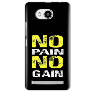 Lenovo A7700 Mobile Covers Cases No Pain No Gain Yellow Black - Lowest Price - Paybydaddy.com
