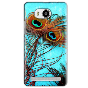 Lenovo A7700 Mobile Covers Cases Peacock blue wings - Lowest Price - Paybydaddy.com