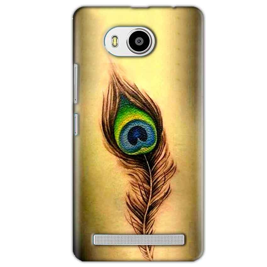 Lenovo A7700 Mobile Covers Cases Peacock coloured art - Lowest Price - Paybydaddy.com