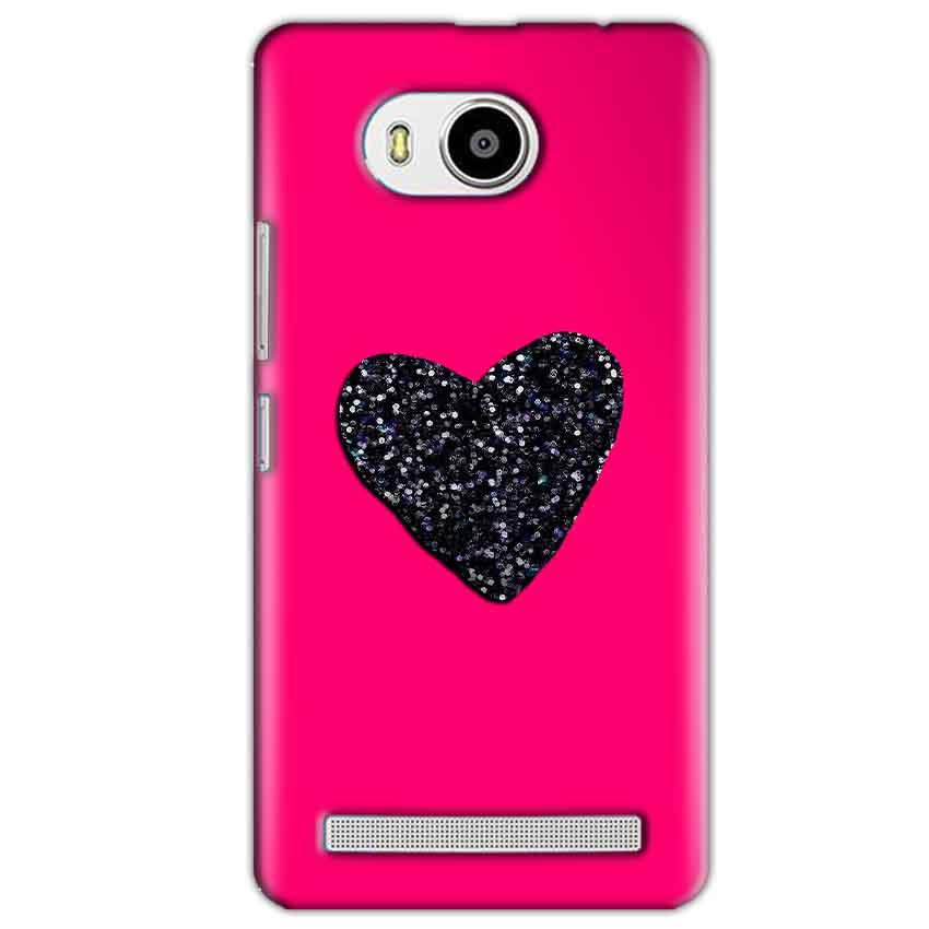 Lenovo A7700 Mobile Covers Cases Pink Glitter Heart - Lowest Price - Paybydaddy.com