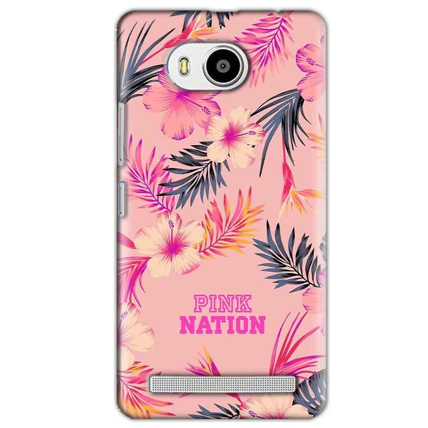 Lenovo A7700 Mobile Covers Cases Pink nation - Lowest Price - Paybydaddy.com