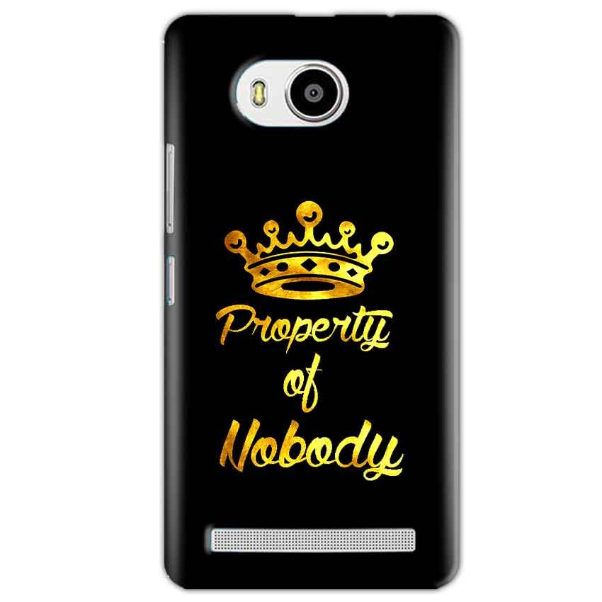 Lenovo A7700 Mobile Covers Cases Property of nobody with Crown - Lowest Price - Paybydaddy.com