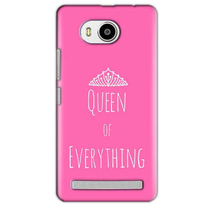 Lenovo A7700 Mobile Covers Cases Queen Of Everything Pink White - Lowest Price - Paybydaddy.com