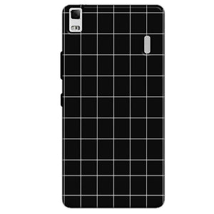Lenovo K3 Mobile Covers Cases Black with White Checks - Lowest Price - Paybydaddy.com