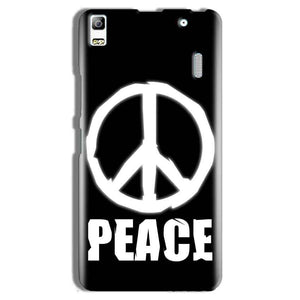 Lenovo K3 Note Mobile Covers Cases Peace Sign In White - Lowest Price - Paybydaddy.com