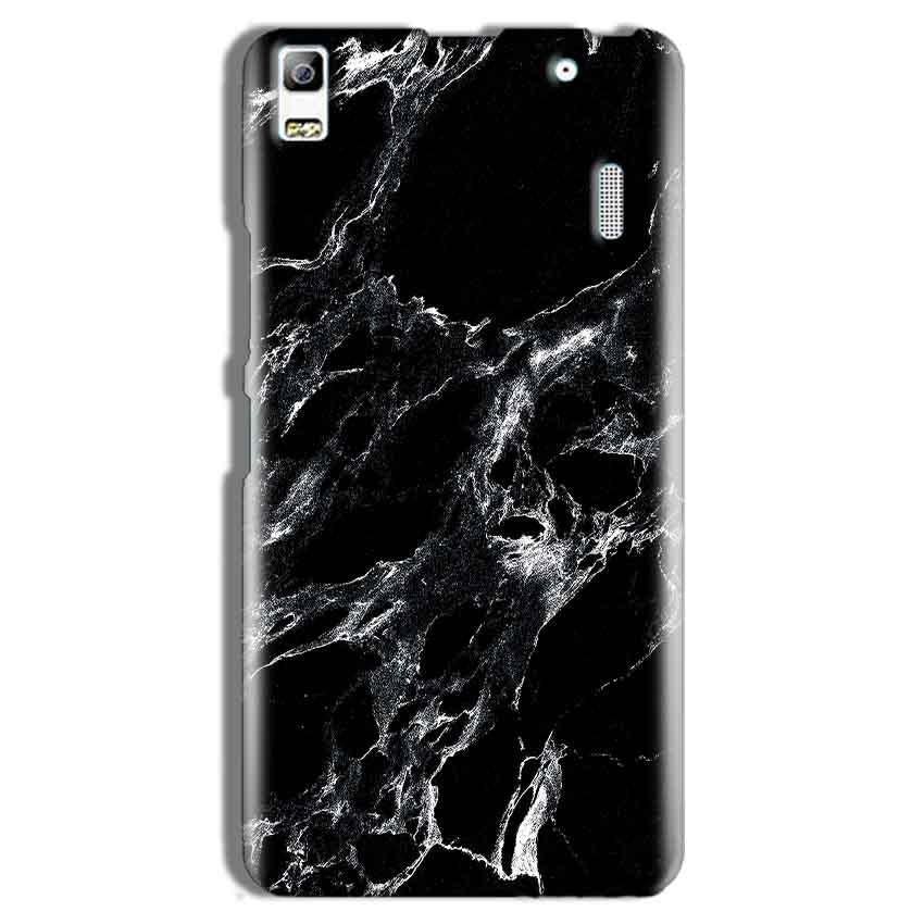 Lenovo K3 Note Mobile Covers Cases Pure Black Marble Texture - Lowest Price - Paybydaddy.com