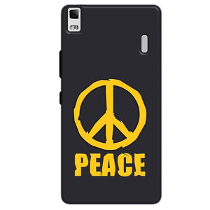Lenovo K3 Mobile Covers Cases Peace Blue Yellow - Lowest Price - Paybydaddy.com