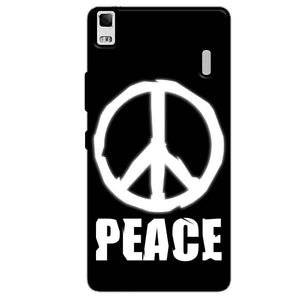 Lenovo K3 Mobile Covers Cases Peace Sign In White - Lowest Price - Paybydaddy.com