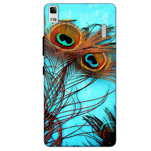 Lenovo K3 Mobile Covers Cases Peacock blue wings - Lowest Price - Paybydaddy.com