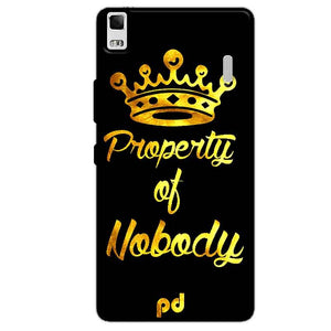 Lenovo K3 Mobile Covers Cases Property of nobody with Crown - Lowest Price - Paybydaddy.com