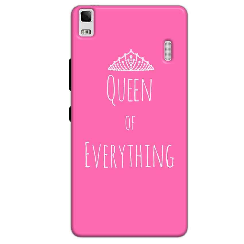 Lenovo K3 Mobile Covers Cases Queen Of Everything Pink White - Lowest Price - Paybydaddy.com