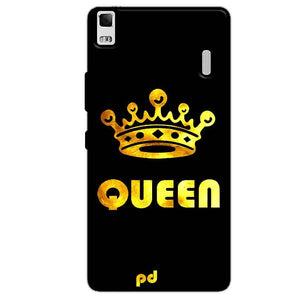 Lenovo K3 Mobile Covers Cases Queen With Crown in gold - Lowest Price - Paybydaddy.com