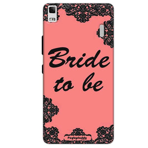 Lenovo K3 Mobile Covers Cases Mobile Covers Cases bride to be with ring Black Pink - Lowest Price - Paybydaddy.com