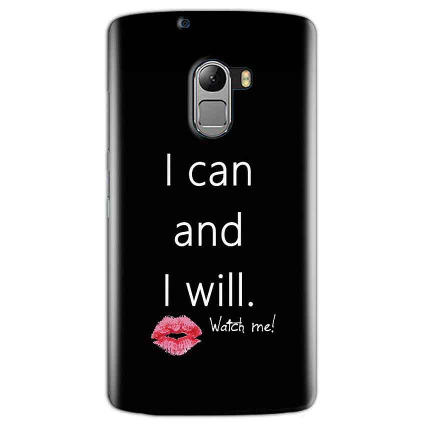 Lenovo K4 Note Mobile Covers Cases i can and i will Lips - Lowest Price - Paybydaddy.com