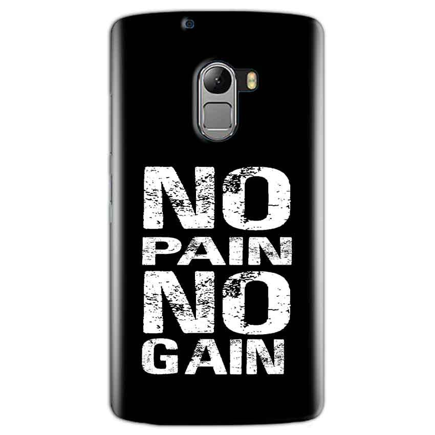 Lenovo K4 Note Mobile Covers Cases No Pain No Gain Black And White - Lowest Price - Paybydaddy.com