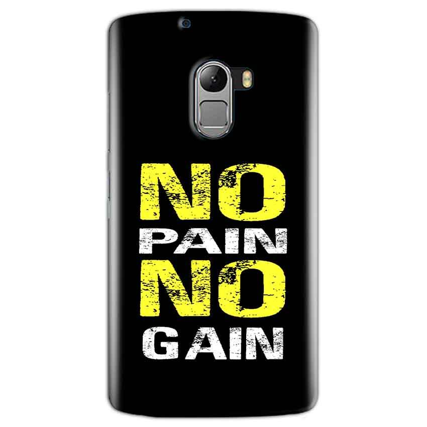 Lenovo K4 Note Mobile Covers Cases No Pain No Gain Yellow Black - Lowest Price - Paybydaddy.com