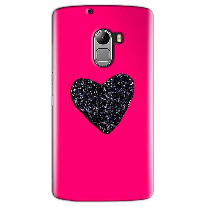 Lenovo K4 Note Mobile Covers Cases Pink Glitter Heart - Lowest Price - Paybydaddy.com