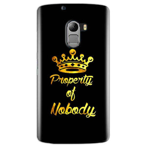 Lenovo K4 Note Mobile Covers Cases Property of nobody with Crown - Lowest Price - Paybydaddy.com