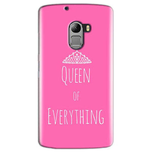 Lenovo K4 Note Mobile Covers Cases Queen Of Everything Pink White - Lowest Price - Paybydaddy.com