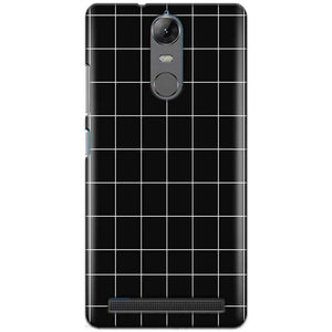 Lenovo K5 Note Mobile Covers Cases Black with White Checks - Lowest Price - Paybydaddy.com