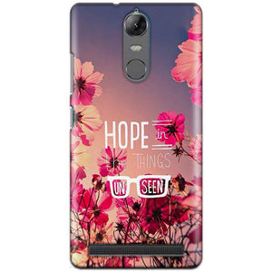 Lenovo K5 Note Mobile Covers Cases Hope in the Things Unseen- Lowest Price - Paybydaddy.com