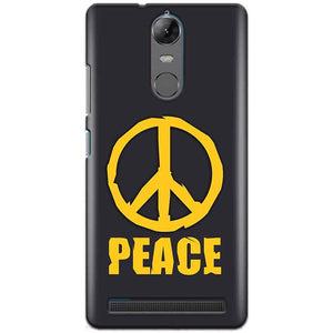 Lenovo K5 Note Mobile Covers Cases Peace Blue Yellow - Lowest Price - Paybydaddy.com