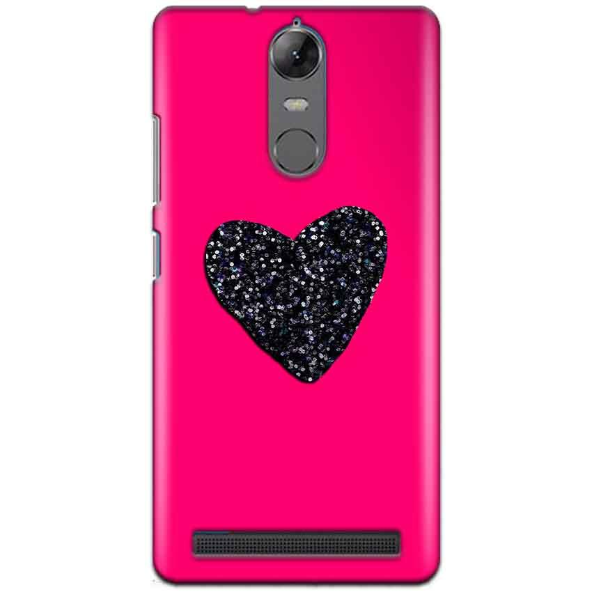 Lenovo K5 Note Mobile Covers Cases Pink Glitter Heart - Lowest Price - Paybydaddy.com