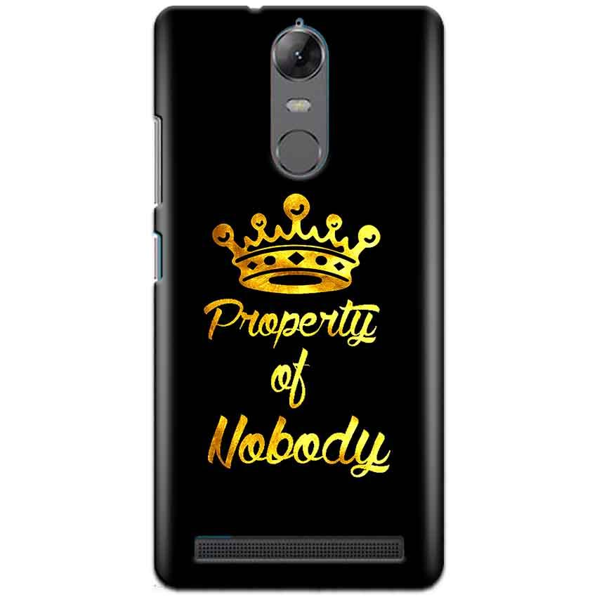 Lenovo K5 Note Mobile Covers Cases Property of nobody with Crown - Lowest Price - Paybydaddy.com