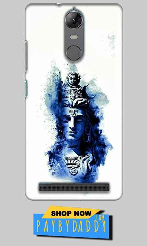 Lenovo K5 Note Mobile Covers Cases Shiva Blue White - Lowest Price - Paybydaddy.com