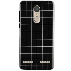 Lenovo K6 Power Mobile Covers Cases Black with White Checks - Lowest Price - Paybydaddy.com