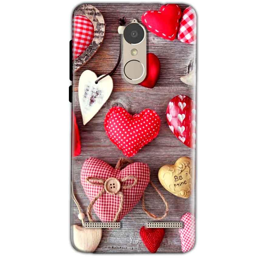 Lenovo K6 Power Mobile Covers Cases Hearts- Lowest Price - Paybydaddy.com